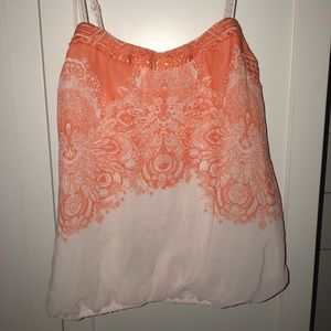 orange design tank top // blouse
